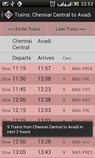 Chennai Local Train Timetable 2.7 screenshots 5