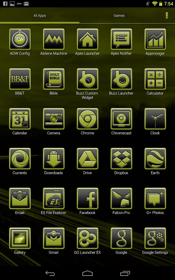 BigDX Serenity ADW Theme Yello - screenshot