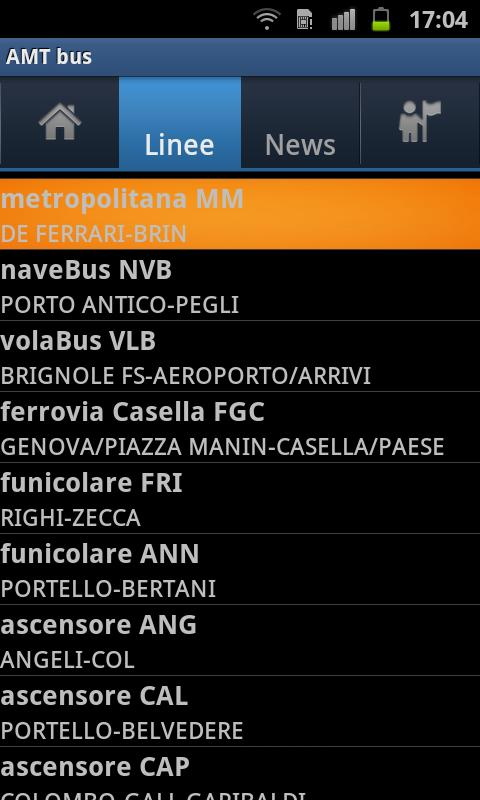 AMT bus - screenshot