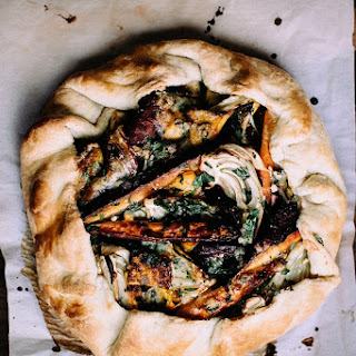 Winter Vegetable + Gorgonzola Galette Recipe