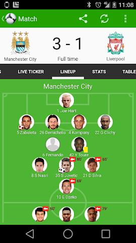android Fußball Ergebnisse - FotMob Screenshot 7