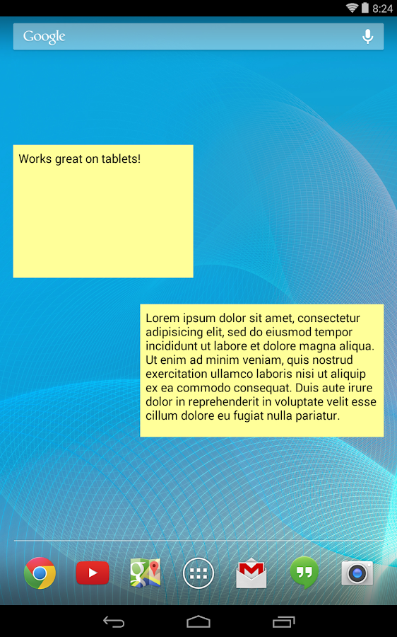 Simple Sticky Note Widget - screenshot