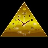 Golden Desert Clock