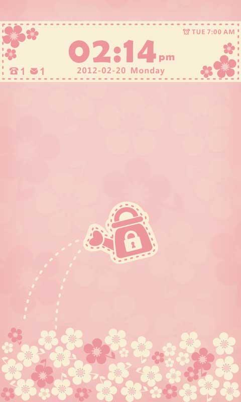 Flowerlove Theme GO Locker - screenshot