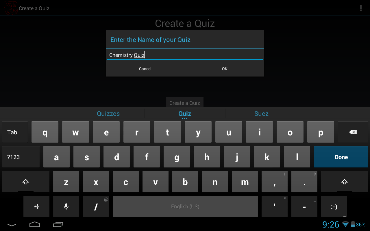 CAQ (Create a Quiz/Test Maker)- screenshot