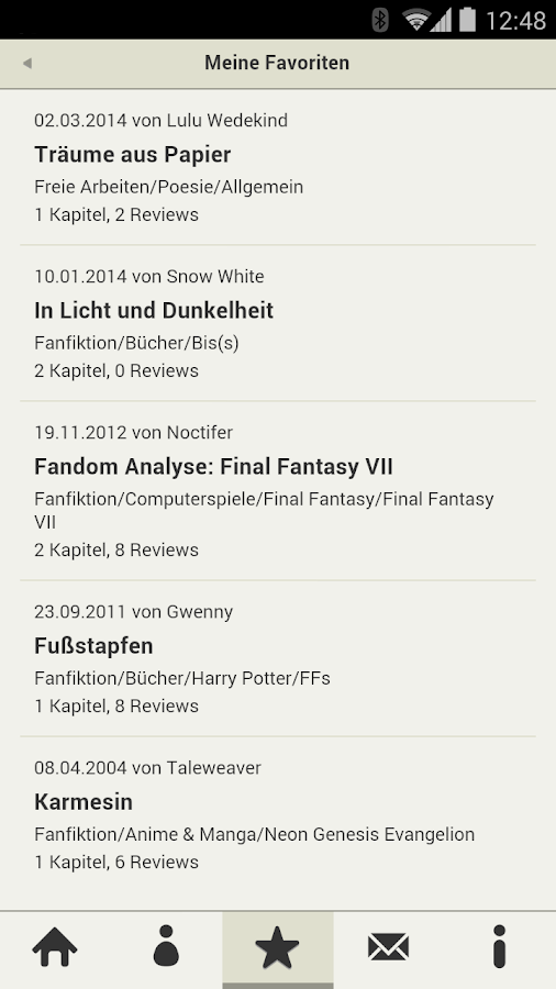 FanFiktion.de- screenshot