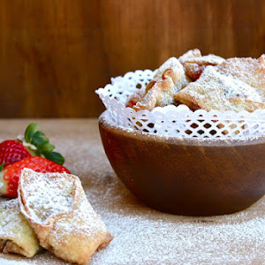 Strawberry and Chocolate Hazelnut Wontons