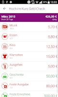 Screenshot of Geld-Check deine Finanz App