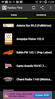 Screenshot of Radios Peru