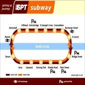 Glasgow Underground Metro Maps