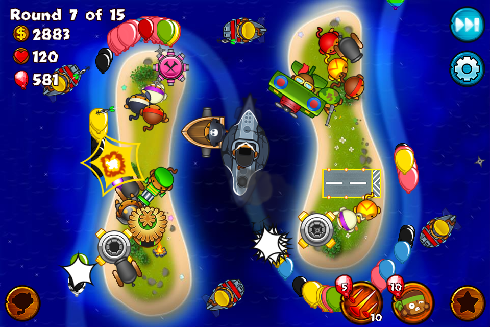 #2. Bloons Monkey City (Android)