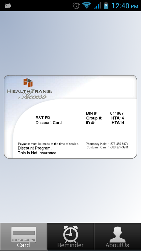 Discount Prescription Rx Card - screenshot