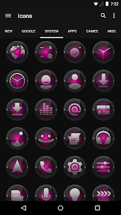 Black and Pink - Icon Pack - screenshot thumbnail