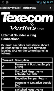 Texecom Veritas Manual - screenshot thumbnail