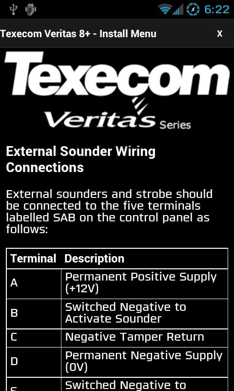 Texecom Veritas Manual- screenshot
