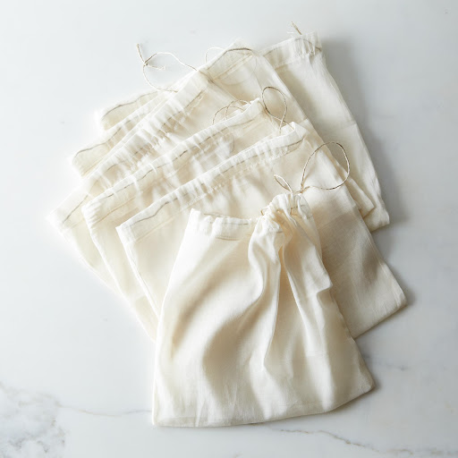 Organic Cotton Produce Bags (Set of 6)