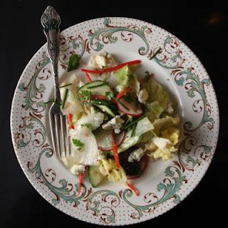 Iceberg Salad with Blue Cheese Vinaigrette