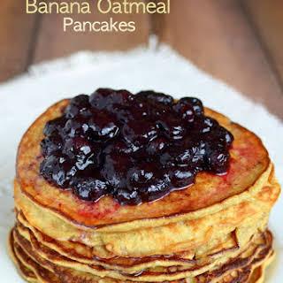 Skinny Banana Oatmeal Pancakes.