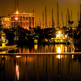 The pier and beyond by Jamie Valladao - City,  Street & Park  Vistas ( water, building, reflection, pier )