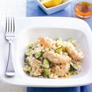 Risotto With Langoustines And Courgettes.