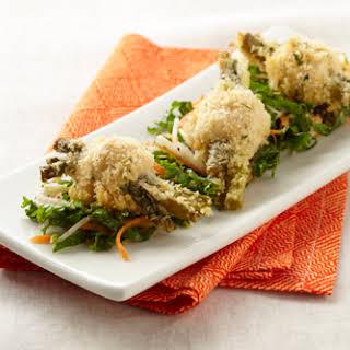 Chicken Bites with Kale Slaw.