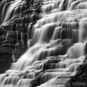 by David Pilasky - Black & White Landscapes ( water, waterfalls, monochrome, black and white, long exposure, shapes )