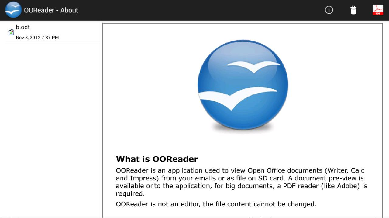 OOReader - screenshot