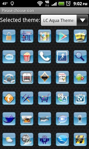 LC Aqua Theme Nova/Apex/Evie Launcher 1.05 screenshots 7