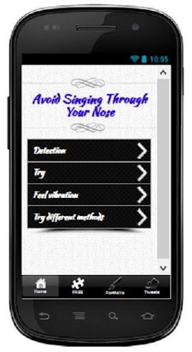 Avoid Singing Through Nose