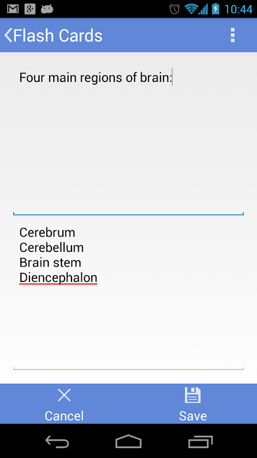Flashcards Application - screenshot