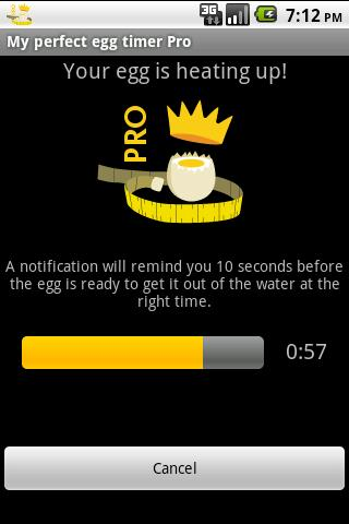 My perfect egg timer PRO - screenshot
