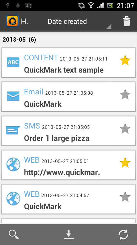QuickMark Barcode Scanner- screenshot