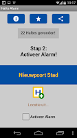 Screenshot of Halte Alarm (De Lijn)