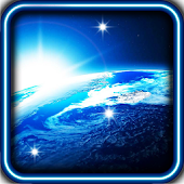 Space Blue Star Live Wallpaper