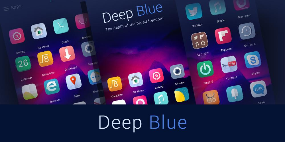 Deep Blue GO Launcher Theme- screenshot