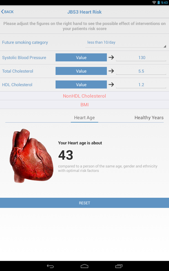 JBS3 Heart Risk (Tablet)- screenshot