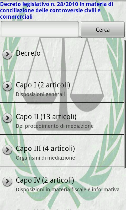 D.L. 28/2010 (Conciliazione)- screenshot