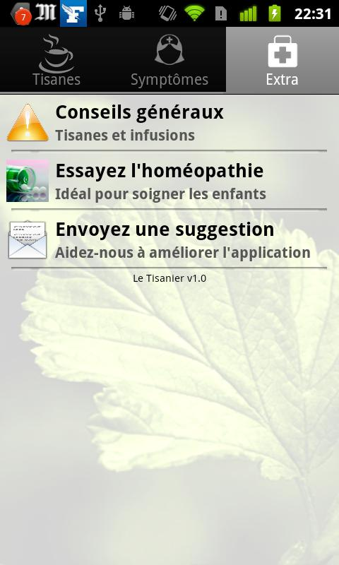 Tisanes et Infusions- screenshot