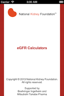 eGFR Calculators - screenshot thumbnail