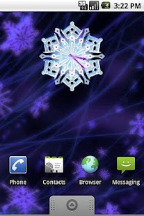 Christmas Snow Clock - screenshot thumbnail