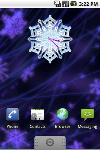 Christmas Snow Clock screenshot #1