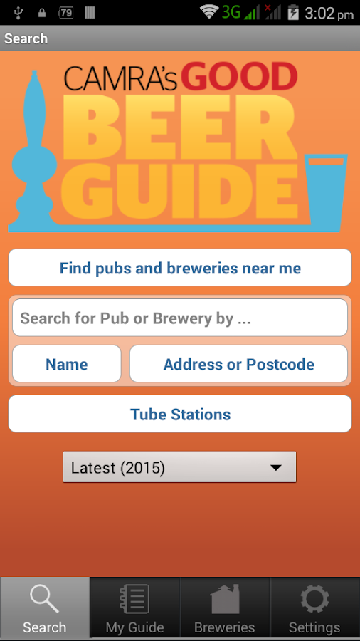 CAMRA Good Beer Guide- screenshot