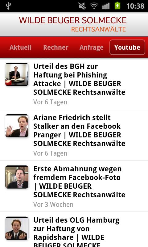 Pocket Anwalt- screenshot
