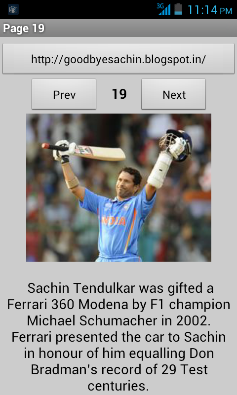 Thank You Sachin - screenshot