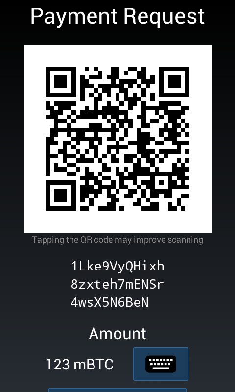 Mycelium Bitcoin Wallet - screenshot