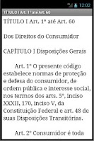 Screenshot of Código de Defesa do Consumidor