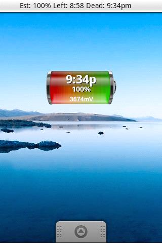 Battery Left Widget - screenshot