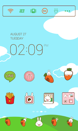 Carrot Rabbit dodol theme