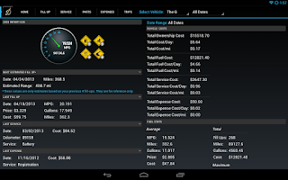 Screenshot of DriverDiary - Gas Mileage