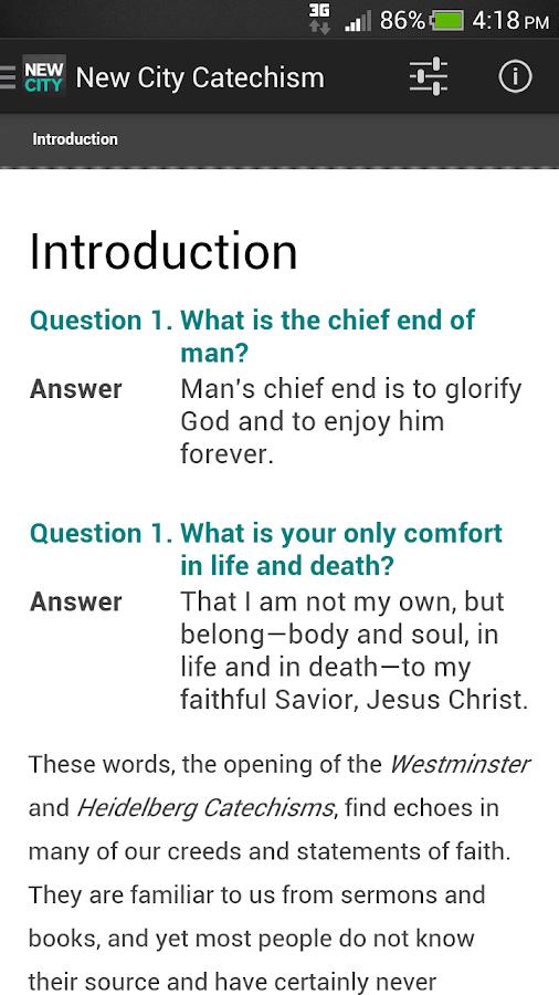 New City Catechism - screenshot
